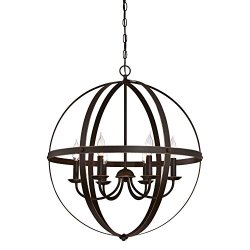 Westinghouse Stella Mira Six-Light Indoor Chandelier Finish with Highlights, Oil Rubbed Bronze