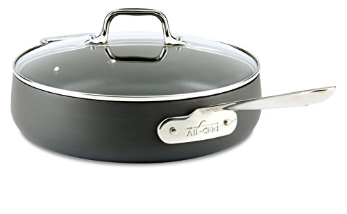 All-Clad Hard Anodized Nonstick Dishwasher Safe PFOA Free Saute Pan Cookware, 4-Quart, Black