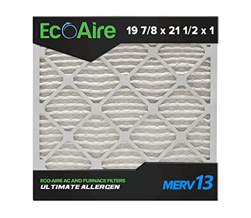 Eco-Aire 19 7/8x21 1/2x1 MERV 13, Pleated Air Filter