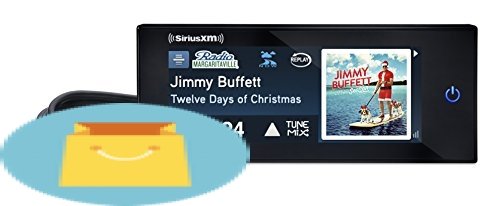 SiriusXM Commander Touch Full-Color, Touchscreen Dash-Mounted Radio