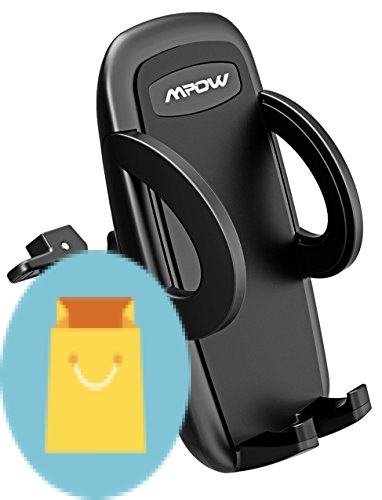 Mpow UPGRADE Air Vent Car Phone Mount, 3-level Adjustable Clamp with Universal Phone Cradle