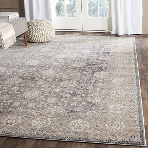 "Safavieh Sofia Collection Vintage Light Grey and Beige Distressed Area Rug (5'1"" x 7'7"")"