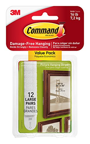 Command Picture & Frame Hanging Strips Value Pack, Large