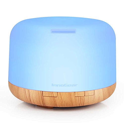 InnoGear 500ml Aromatherapy Essential Oil Diffuser Cool Mist Humidifier Waterless