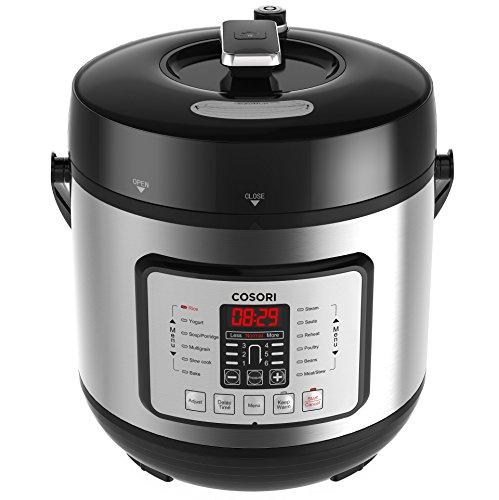 COSORI 6 Qt Programmable Multi-Cooker, Pressure Cooker, Rice Cooker