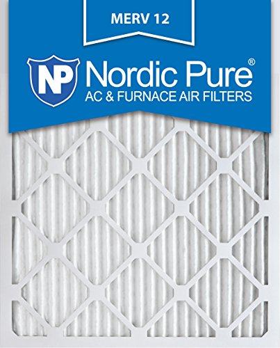 Nordic Pure 16x25x1 MERV 12 Pleated AC Furnace Air Filter, Box of 6