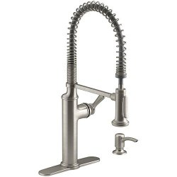 Kohler Sous Pro-Style Single-Handle Pull-Down Sprayer Kitchen Faucet in Vibrant Stainless