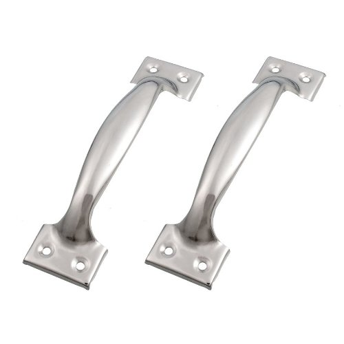 """SODIAL(R) 2 x Silver Tone Stainless Steel Pull Handles Grips 6"""" for Windows Doors"""