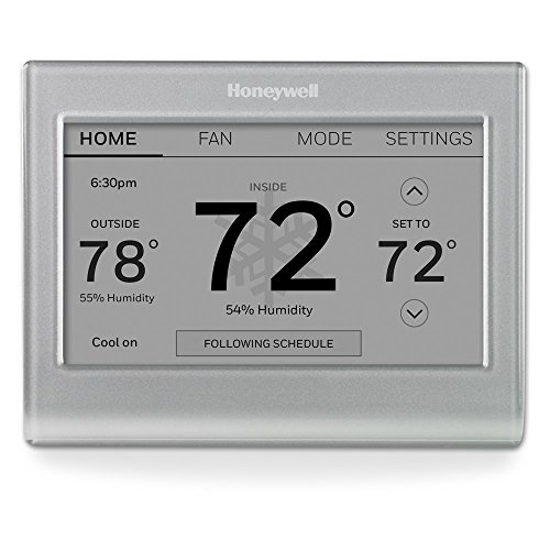 """Honeywell Wi-Fi Smart Color Programmable Thermostat, V. 2.0,""""C Wire Required"""
