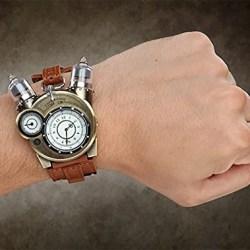 ThinkGeek Steampunk Styled Tesla Analog Watch