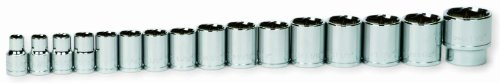 Williams 16-Piece 1/2-Inch Drive Shallow 6 Point Socket Set