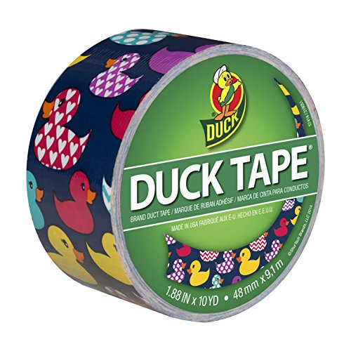 Duck Brand Printed Duct Tape, Rubber Duckies, 1.88 Inches x 10 Yards, Single Roll