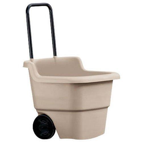Suncast 15.5-Gallon Capacity Poly Rolling Lawn Cart
