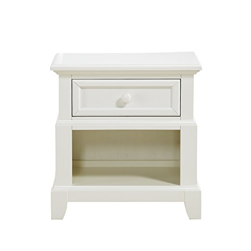 Dorel Living Bertini Lafayette Nightstand, French White Lace