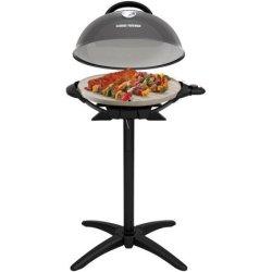 George Foreman PRO Indoor / Outdoor Grill , 240 Sq In, Ceramic Plates, Temp Gauge - Black