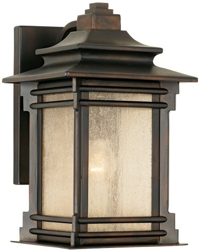 """Franklin Iron Works Hickory Point 12"""" High Outdoor Light"""