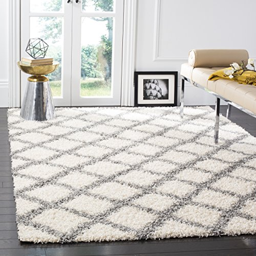 Safavieh Dallas Shag Collection Ivory and Grey Area Rug (8' x 10')