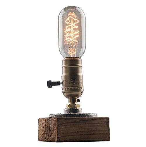 OYGROUP E26 Vintage Wood Blocks Table Lamp Desk Light