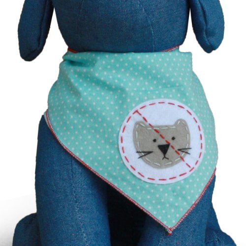 No Cats Allowed Dog Bandana Kerchief (Large)