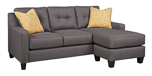 Benchcraft - Aldie Nuvella Contemporary Sofa Chaise - Gray
