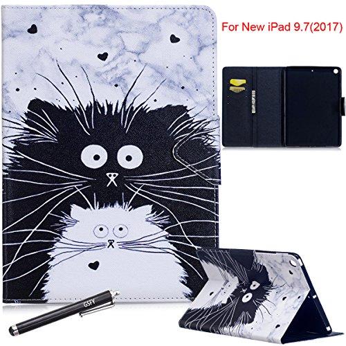 New iPad 9.7 2017/2018 Case - Newshine Colorful PU Leather Magnetic Closure