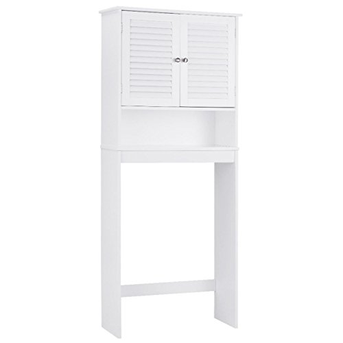 Bathroom Space Saver Over The Toilet Storage Shelved Cabinet Organizer White