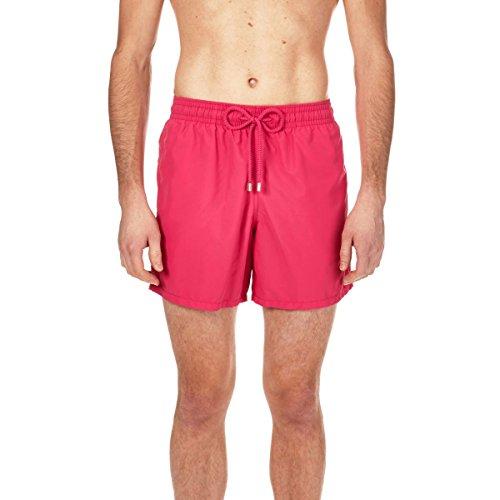 Vilebrequin Men's Moorea Solid Swim Trunk, Rose Shocking, 4XL
