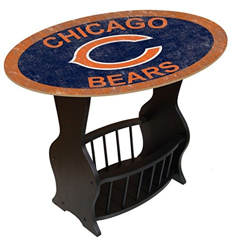 Fan Creations N0818-CHI Chicago Bears Distressed End Table