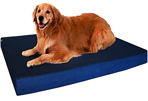 Dogbed4less Extra Large Orthopedic Memory Foam Dog Bed, Waterproof Liner
