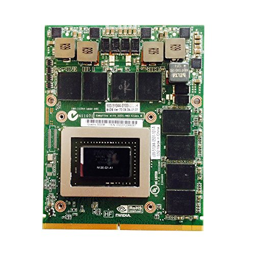 New for Gaming Laptop Graphics Video Card Upgrade NVIDIA Quadro 3000M for HP EliteBook 8760w 8770w 8740w Mobile Workstation MXM 2GB GDDR5 VGA Board Replacement
