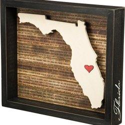 "Primitives by Kathy Box Sign, 8"" x 8"", Florida"