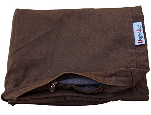Dogbed4less Inches Extra Large size Brown Color Denim Jean Dog Pet Bed