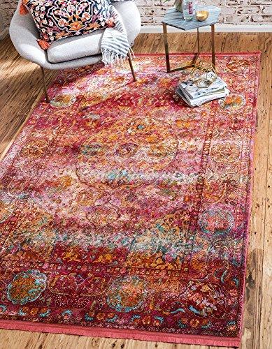 Unique Loom Havana Collection Red Area Rug