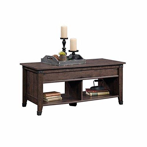 Pemberly Row Lift Top Coffee Table in Coffee Oak