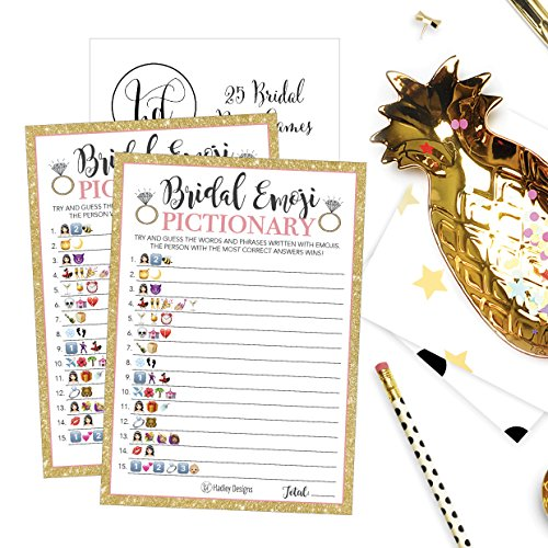Engagement Party Games: 25 Emoji Pictionary Bridal Shower Games Ideas