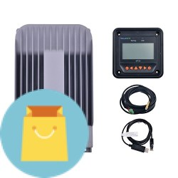 SolarEpic 40A MPPT Solar Charge Controller with MT50 Remote Meter +  Temperature Sensor PC Communication Cable Set