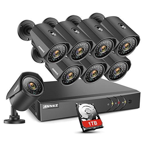 ANNKE 8CH Security CCTV Surveillance System 1080P Lite DVR with 1TB HDD