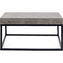 "TemaHome Petra 30""X30"" Coffee Table   Concrete Look Top / Black Legs"