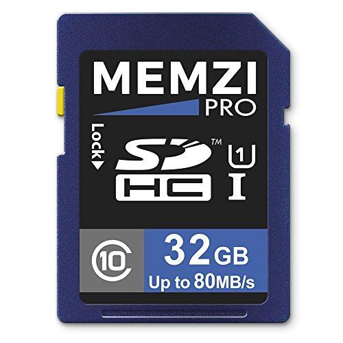 MEMZI PRO 32GB Class 10 80MB/s SDHC Memory Card for Nikon
