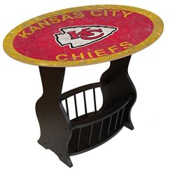 Fan Creations N0818-KCC Kansas City Chiefs Distressed End Table