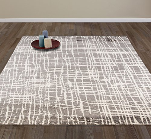 Diagona Designs Contemporary Abstract Geometric Stripes Design Modern Area Rug