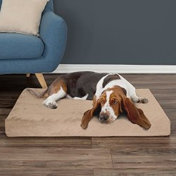 PETMAKER Orthopedic Pet Bed - Egg Crate and Memory Foam with Washable Cover 37x24x4 by Tan
