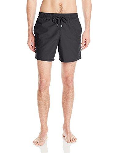 Vilebrequin Men's Moorea Solid Swim Trunk, Black, Medium