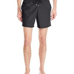 Vilebrequin Men's Moorea Solid Swim Trunk, Black, Medium