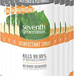 Seventh Generation Disinfectant Spray, Fresh Citrus & Thyme Scent, 13 9  Ounce (Pack of 8)