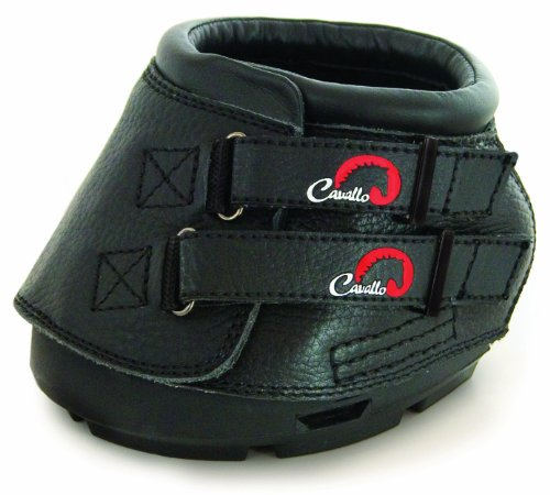 Cavallo Simple Hoof Boot for Horses, Size 4, Black