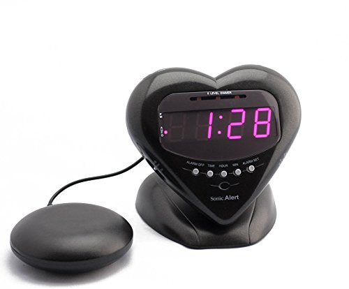 Sonic Alert Sonic Bomb by Extra Loud Heart Alarm Clock with Bed Shaker Vibrator.