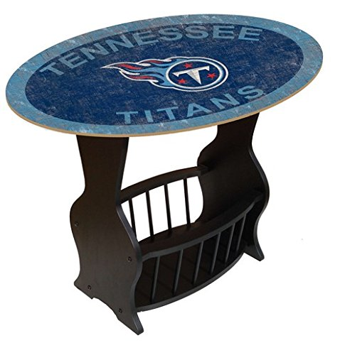 Fan Creations N0818-TEN Tennessee Titans Distressed End Table