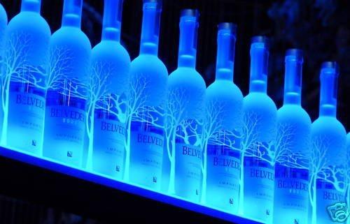 """26"""" Wall Mount LED Lighted Bottle Shelf 2' 2"""" Liquor shelves"""
