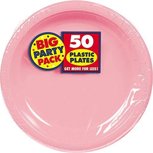 Amscan Big Party Pack 50 Count Plastic Lunch Plates